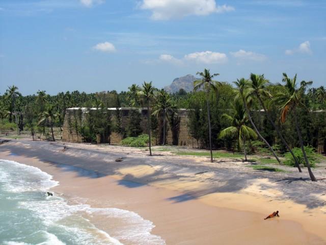 пляж Виттакотай в нескольких километрах от Каньякумари