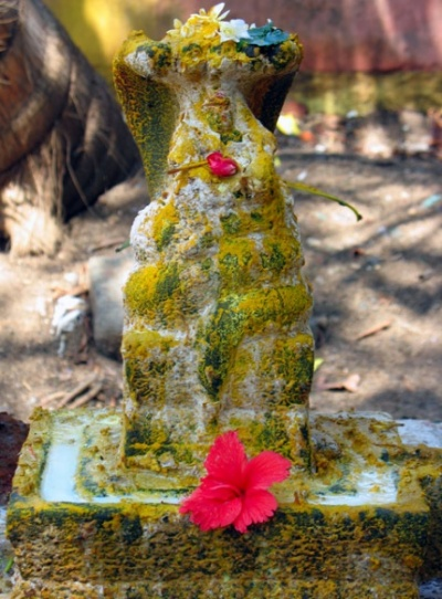 змеиное божество в храме Нагеркойл недалеко от Каньякумари