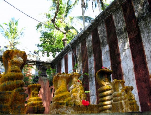 змеиные божества в храме Нагеркойл недалеко от Каньякумари
