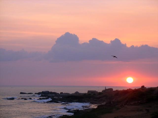 закат в Каньякумари