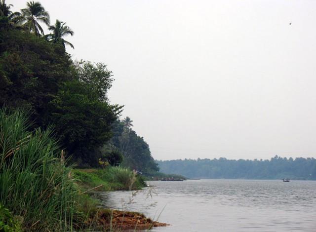 Река Перияр в Калади, где родился Шанкарачарья. В окрестностях Кочина