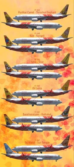 Раскраска самолетов авиакомпании Air India Express
