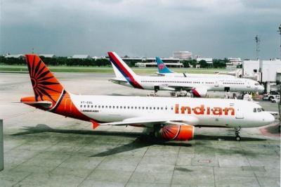 Самолет авиакомпании Indian