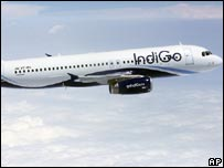 Самолет авиакомпании IndiGo Airlines