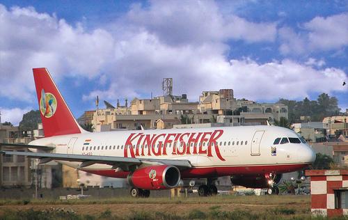 Самолет авиакомпании Kingfisher Airlines