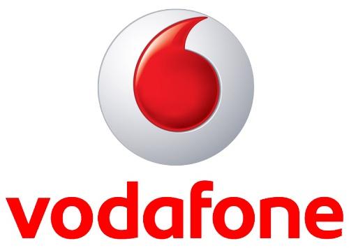Логотип оператора мобильной связи Vodafone