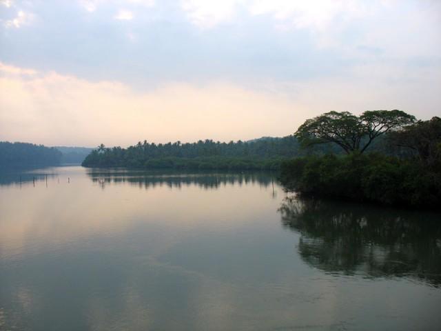 керальский канал на рассвете