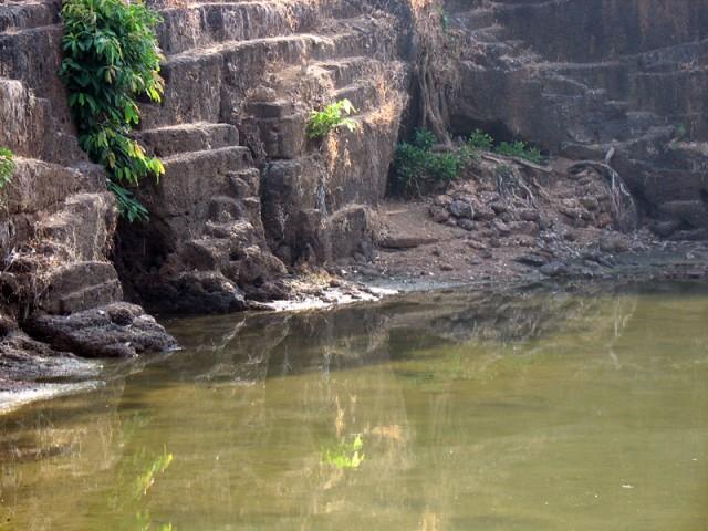 в этой пещере возле храма Анантапурам живет и медитирует крокодил, говорят, очень деликатный