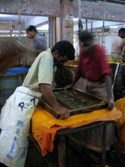 ручной процесс производства бумаги
