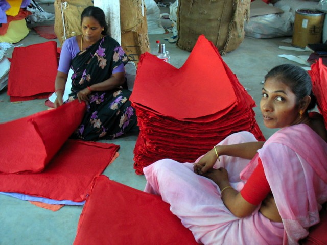 Работницы бумажной фабрики. Пондичери