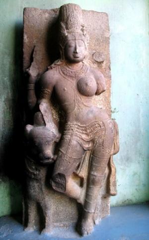 Шива и Парвати, представленные в одной форме