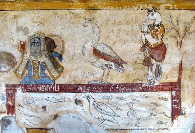 Настенная роспись в храме Брихадишвара