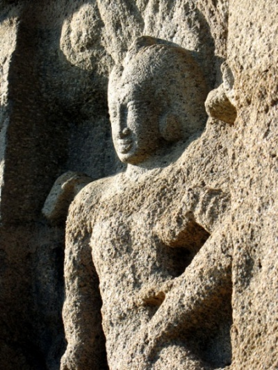 Один из многочисленных рельефов в Мамалапураме