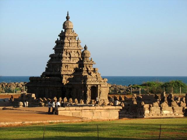 Храм на берегу – одно из самых знаменитых и прекрасных сооружений в Мамалапураме