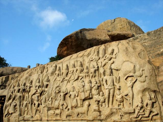 Фрагмент рельефа «Аскеза Арджуны»
