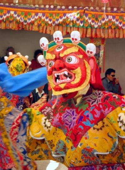 церемония чам в монастыре Такток (Ладакх)