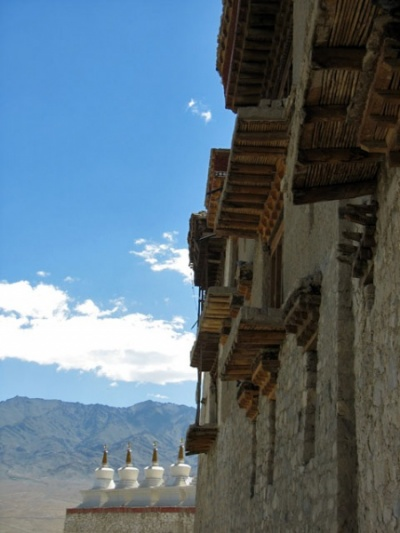 Стены дворца в Ше, Ладакх