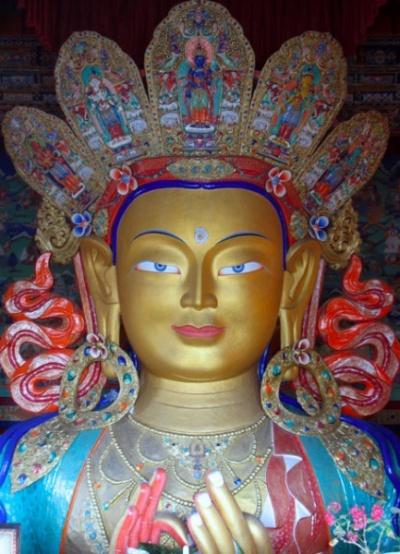 Будда Майтрейя. Тикси Гомпа, Ладакх