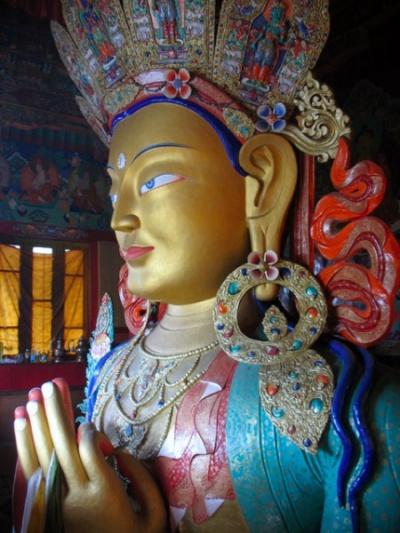 Статуя Будды Майтрейи в монастыре Тикси, Ладакх