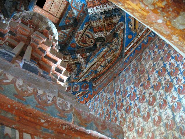Росписи внутри ступы, Алчи, Ладакх