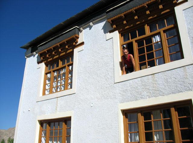 Наш гестхаус в Чангспе, пригороде Леха, - симпатичный особняк в ладакхском стиле