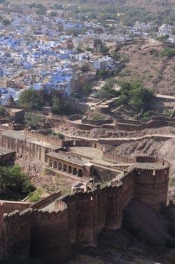 Вид из крепости Мехрангарх на город Джодхпур