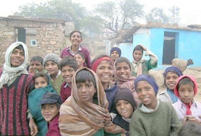 В индийской деревне: ребятня
