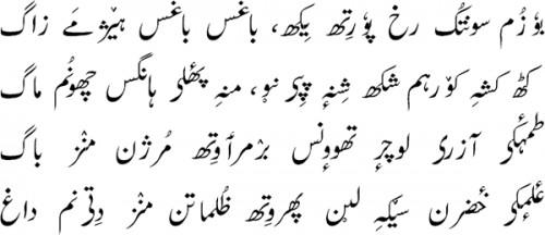 Текст на кашмири