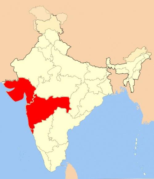Карта Западной Индии