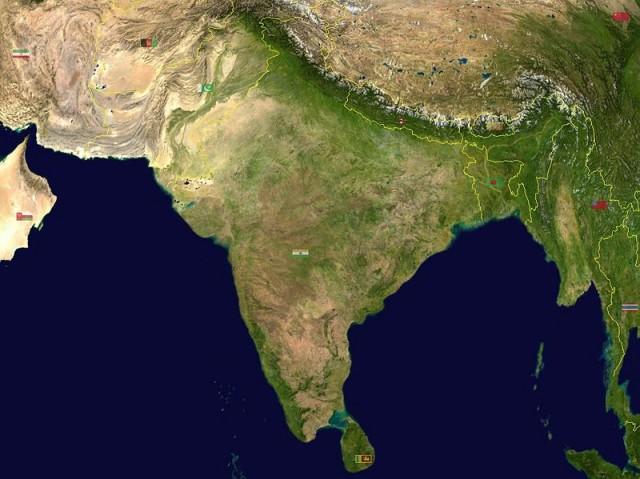 Индия: Вид из космоса