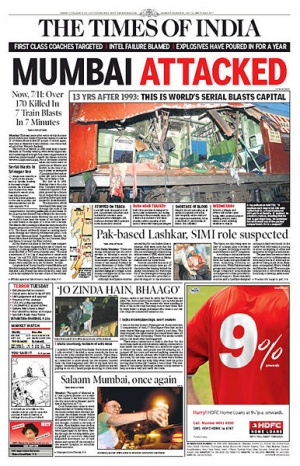 Газета The Times of India