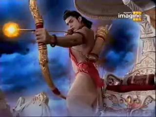 Рама убивает Равану