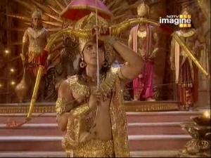 Рам грозится наказать Бхуми Деви