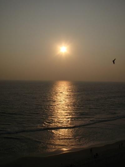 Закат в Варкале