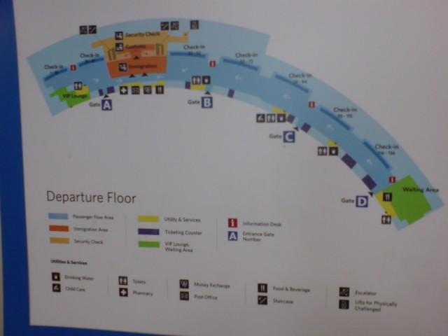 Схема гейтов международного аэропорта им. Ч.Шиваджи
