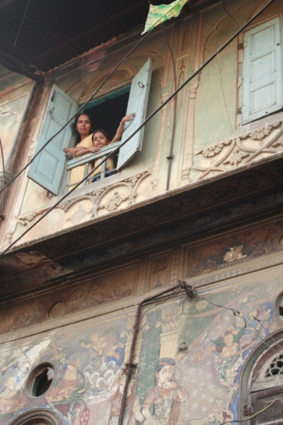 Джайпур фрески на домах
