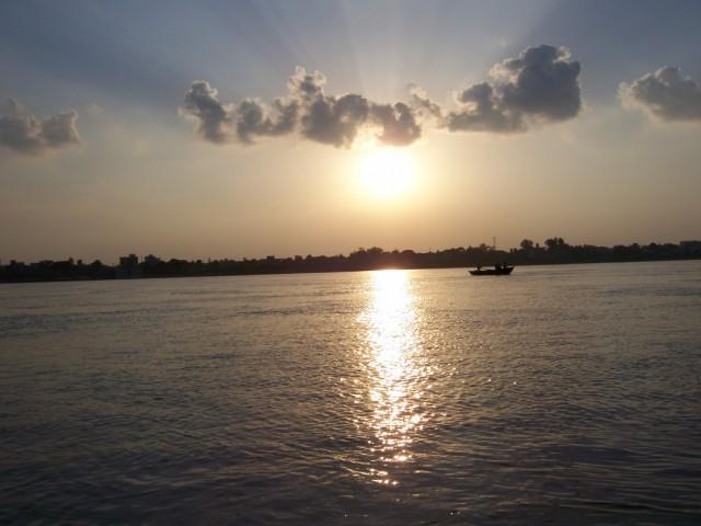 Варанаси Закат на реке Ганг