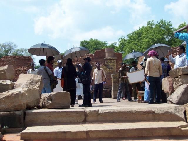 Сарнатх Олений Парк Съемки южноиндийского фильма на территории Парка