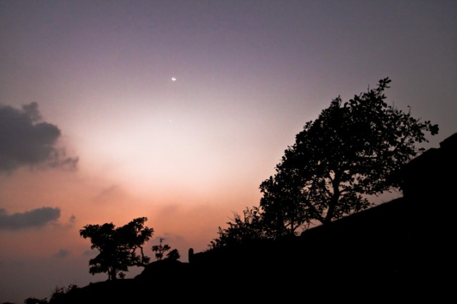 sun set at fort