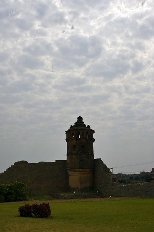 какая-то обзорная башня рядом со слонюшнями