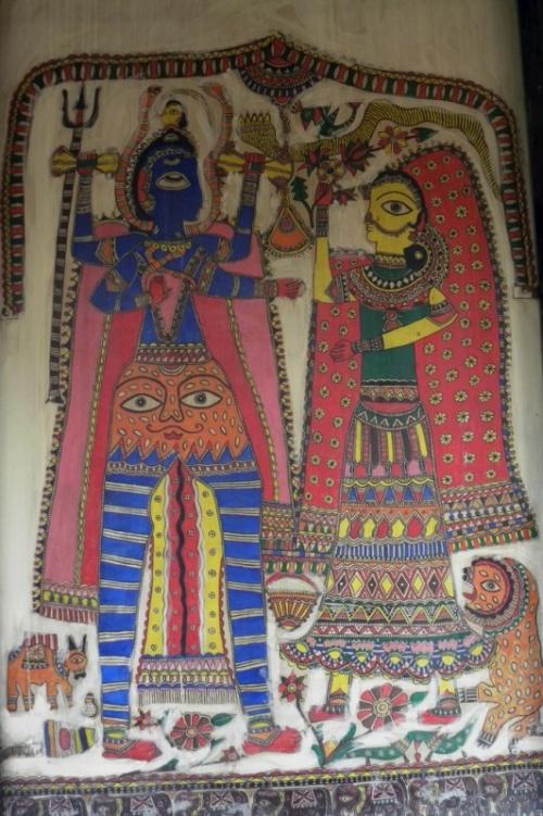 Настенная роспись, по-моему - Бихар