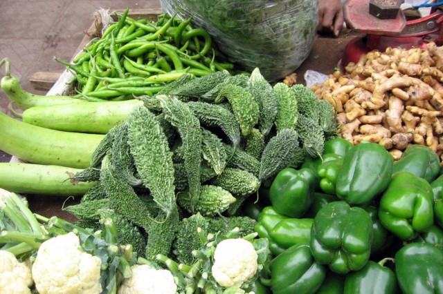 Овощи с местного рынка