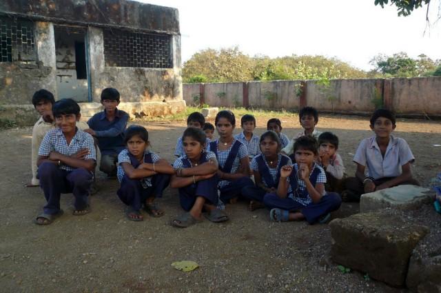 Ученики деревенской школы