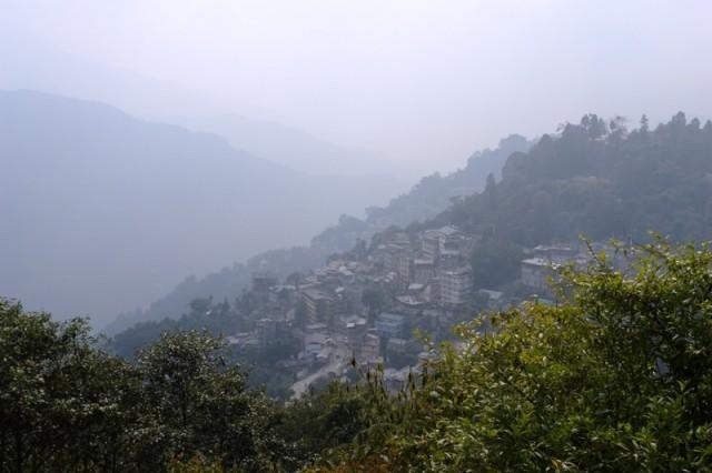 Вид на Гангток