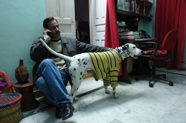 Наш друг Ума Шенкер со своей собакой