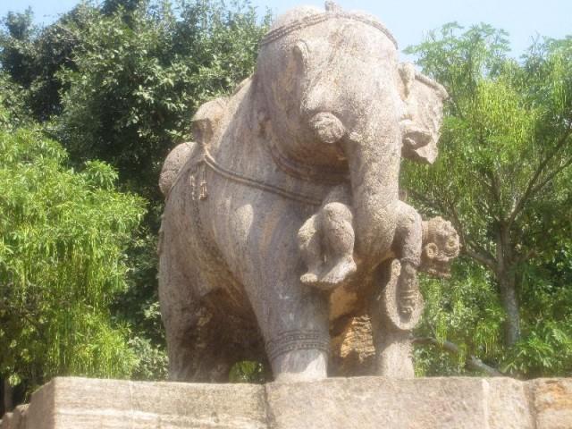Слон, спасающий воина