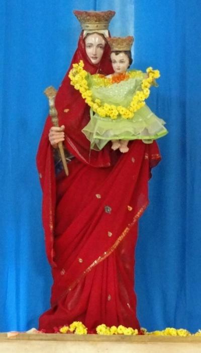 Индийская Мария с младенцем Христом