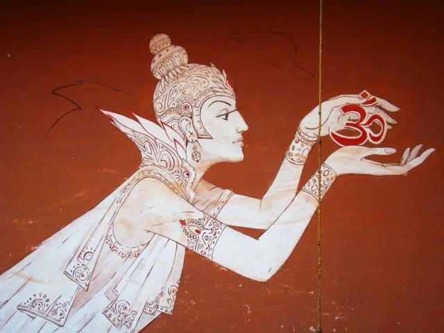Роспись на стене в гостинице