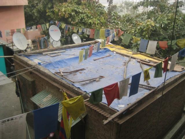 вид из окна геста в Дели