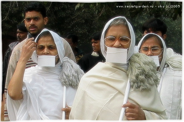 Джайнские монахини в Красном Форте (Дели).